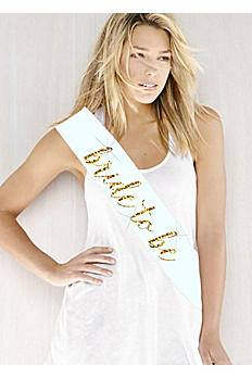 Glitter Print Bride To Be Sash ISASASHB2B