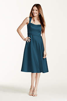 Tea Length A-Line Tank Dress - David's Bridal