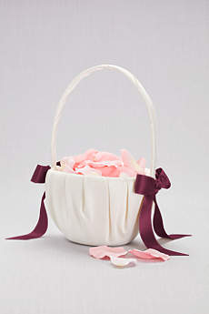 Single Ribbon Flower Basket