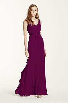 Sleeveless Chiffon Dress with Ruffled Back Detail