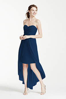 Strapless High Low Dress with Front Detail