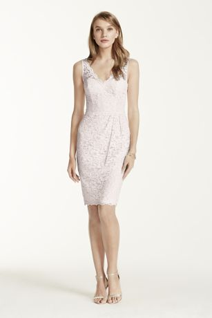 Pretty V-Neck Lace Dress