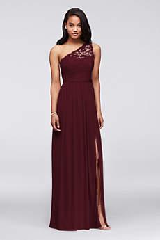 Long A-Line One Shoulder Dress - David's Bridal