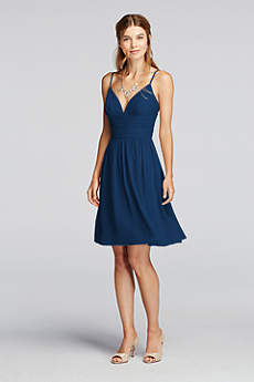 Short Sheath Spaghetti Strap Dress - David's Bridal