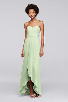High Low A-Line Strapless Dress - David's Bridal