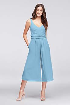 Soft & Flowy Tea Length Bridesmaid Dress