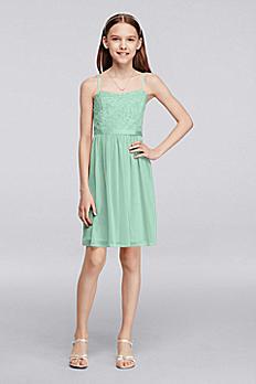 Short Lace Mesh Junior Bridesmaid Dress JB9288
