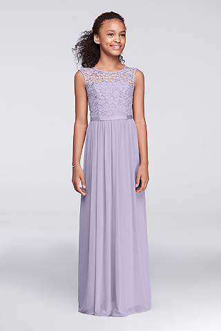 chiffon junior bridesmaid dress