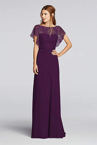Soft Flowy Wonder By Jenny Packham Long Bridesmaid Dress