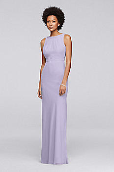 Long Chiffon Bridesmaid Dress with Beading JP291747