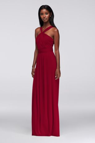 Y Neck Long Bridesmaid Dresses 66