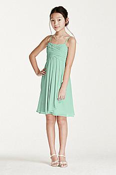 Short Chiffon Dress with Cascade Ruffle WJB0647