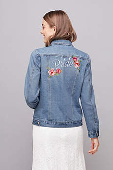 Embroidered Bride Denim Jacket