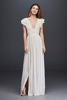 Long Sheath Vintage Wedding Dress - The Jetset Diaries
