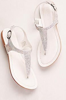 Embellished Glitter T-Strap Sandals JACOB12