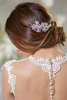 Crystal Filigree Hand-Wired Hair Comb