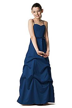 Satin Ball Gown with Pickup Skirt and Sash JB2233