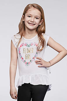 Flower Girl Peplum Tee