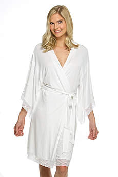 Blank Jersey Robe with Lace