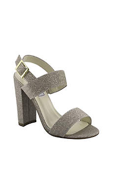 Touch Ups Grey (Double-Strap Glitter Block Heel Sandals)