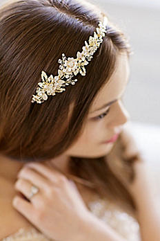 Vintage-Inspired Floral Headband with Beads JOY