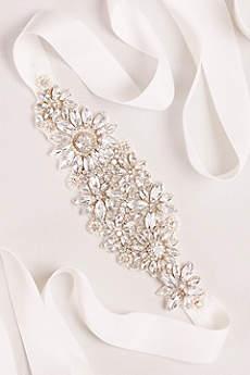 Floral Crystal Sash