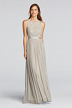 Sleeveless Tulle Dress with Beaded Bodice JP281644