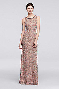 Multicolor Beaded Long Sleeveless Dress JP281724