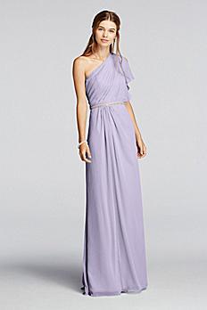 One Shoulder Split Sleeve Chiffon Dress JP291631