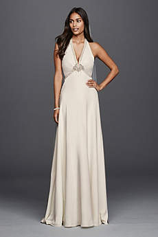 Halter Wedding Dresses &amp Gowns  David&39s Bridal