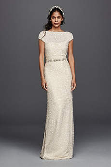 Long Sheath Vintage Wedding Dress - Wonder by Jenny Packham