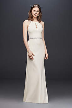 Long Sheath Country Wedding Dress - Wonder by Jenny Packham