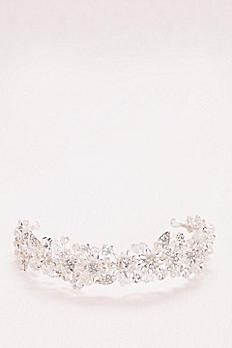 Pearl and Crystal Floral Headband JP45HP15