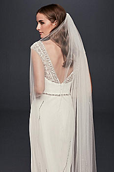 Linear Beaded Cathedral Veil JP45V14