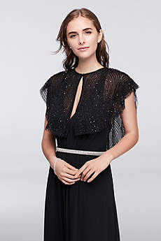 Beaded Flutter Sleeve Capelet