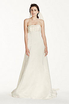 Jewel A-line Wedding Dress with Watteau Train JS3777