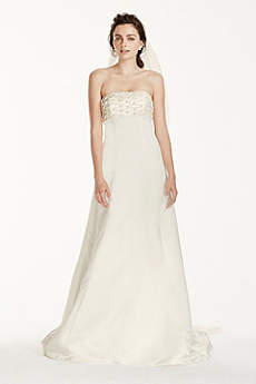 Jewel A-line Wedding Dress with Watteau Train