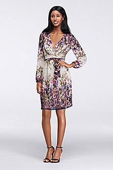 Watercolor Faux-Wrap Dress JS5A7663