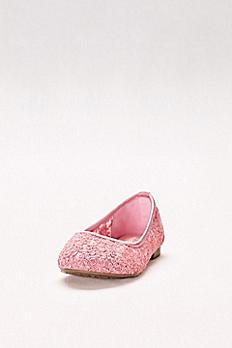 Girls Corded Lace Ballet Flats KHARPER-53