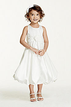 Satin Tank Bubble Dress with 3D Flower KP1311