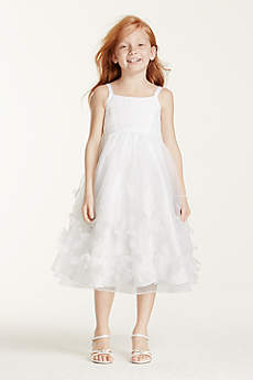 Tea Length Ballgown Spaghetti Strap Communion Dress - David's Bridal