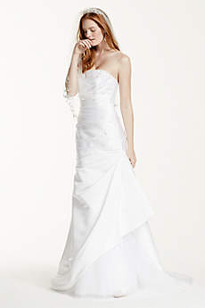 Strapless Trumpet Wedding Dress with Beading