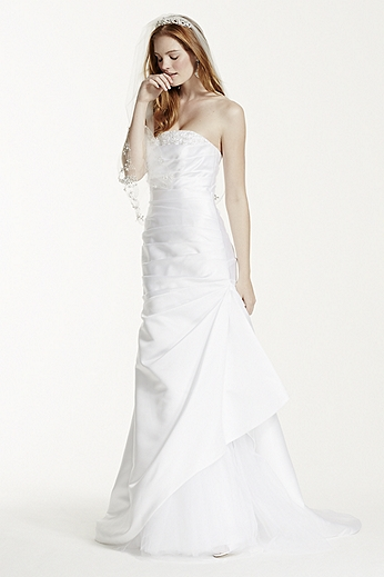 Strapless Trumpet Gown with Beaded Detail KP3716