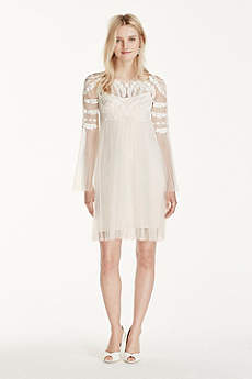 Short A-Line Casual Wedding Dress - Galina