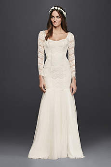 Long Vintage Wedding Dress - Galina