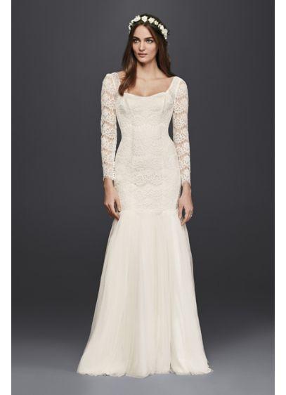 Long Mermaid Trumpet Vintage Wedding Dress Galina