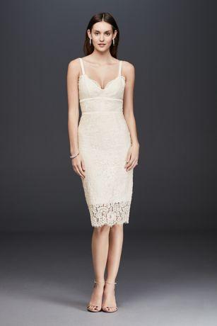 Form Fitting Short Wedding Dress