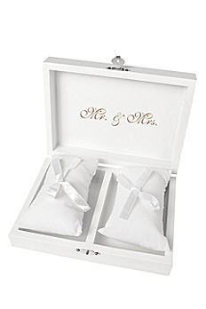 Personalized Tie the Knot Ring Bearer Box KT-3922W