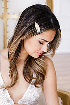 14k Gold-Plated Feather Bobby Pin LETICIA