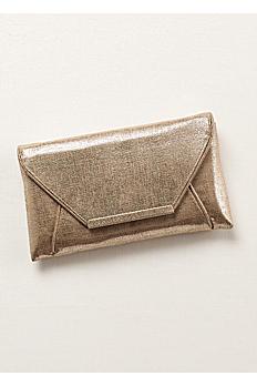 La Regale Shimmer Envelope Clutch LETTER